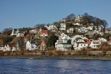 Hamburg Blankenese mit dem Süllberg